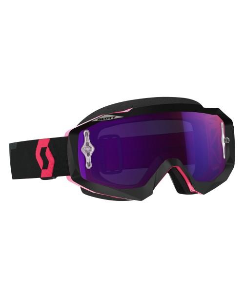 Scott Goggle Hustle MX Black/Fluo pink / Purple Chrome Works '17