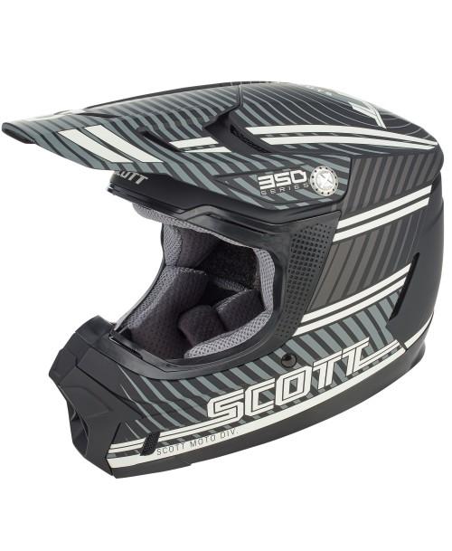 Scott Junior Helmet 350 EVO KID PLUS Retro ECE Black