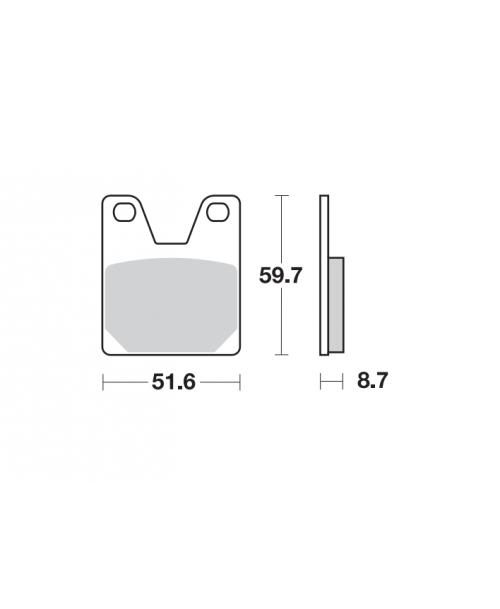 SBS LS Street Excel Brake Pads Yamaha - Rear