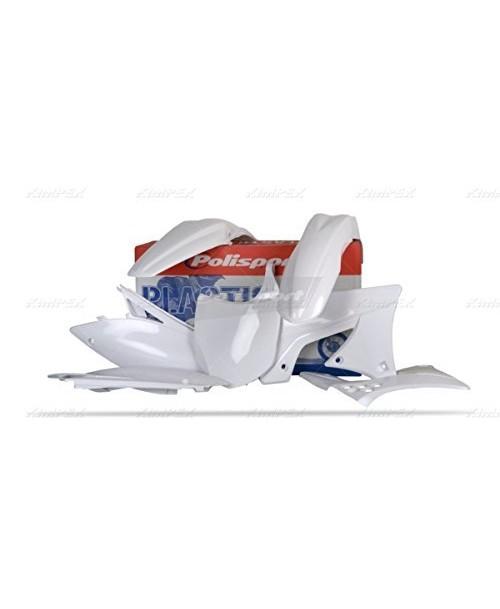 Plastm. kompl. 90210TMV KX250F 09-12 balts