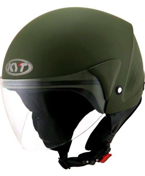 KYT Helmet COUGAR Plain Army Matt Green