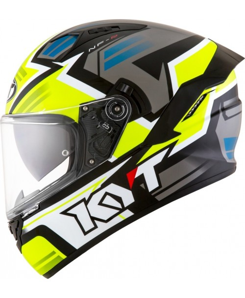 KYT Helmet NF-R ARTWORK Yellow / Grey