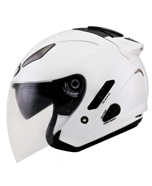 KYT Helmet HELLCAT Plain Pearl White