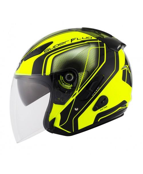KYT Helmet HELLCAT SuperFluo Yellow
