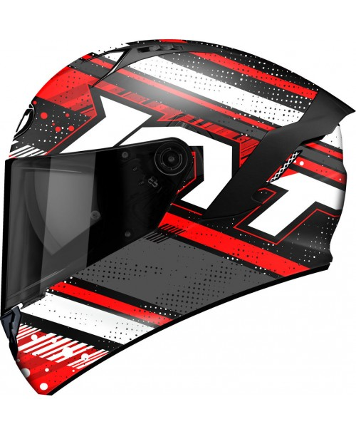 KYT Helmet NF-R ENERGY Matt Anthracite / Red