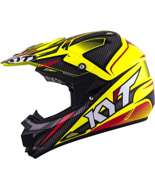 KYT Helmet CROSS OVER POWER Black / Yellow Fluo
