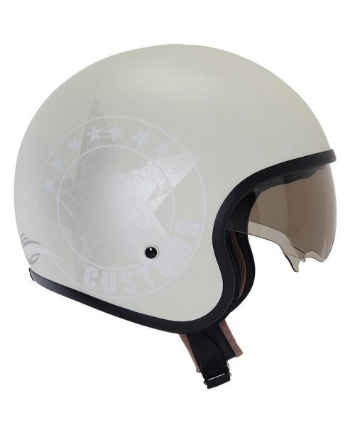 Suomy Helmet JET 70's Custom Milk
